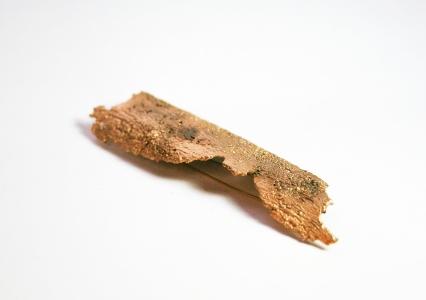 Broche/Colgante Corteza. Latón con baño de oro. Pieza única.